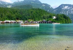 Der Königssee bei Berchtesgaden.
