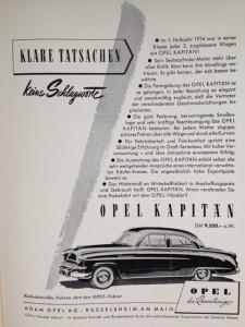 1954er Opel Kapitän: Das Auto der Wirtschaftsbosse, die keine freistehenden Kotflügel mehr wollten.